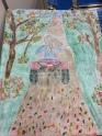 Oil Pastel Art Piece Related to Saskatchewan